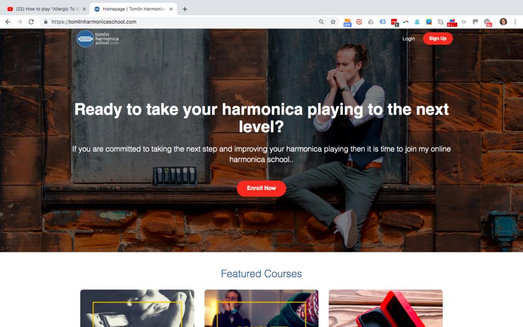 screenshot of tomlinharmonicaschool.com